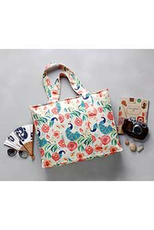 Anaar Aur Mor Large Tote Bag